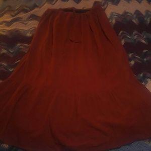 Boho maxi peasant skirt